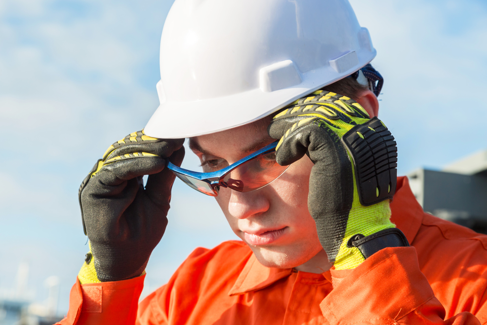 Protect your eyes with appropriate safety eyewear while on the job.